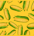seamless pattern with sweet golden ripe corn vector image