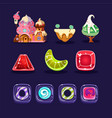 set of assets for mobile computer game vector image vector image