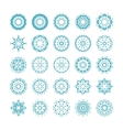 set of ornamental snowflakes vector image vector image