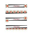 set of sushi sign vector image vector image
