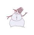 snowman with carrot nose vector image