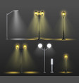 street lights realistic composition set vector image