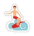 surf boarding extreme sport vector image vector image