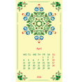 template calendar 2016 for month April vector image
