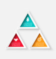 triangle for infographic vector image vector image