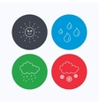 Weather sun and rain icons Snow vector image