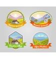 Mountain Landscape Label vector image