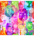 translucent wine glasses vector image
