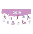 2019 new year christmas sale discount vector image vector image