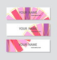 abstract corporate business banner template vector image vector image