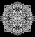 abstract mandala ornament isolated on black vector image vector image