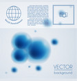 abstract molecule background template vector image vector image