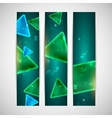 abstract shiny banners with geometric shapes vector image