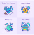 banking and finance secure payment services best vector image