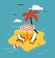 Beach Island vector image vector image