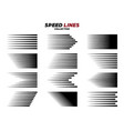black comic speed motion line collection vector image vector image