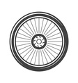 Bycicle wheel Black icon logo element flat vector image