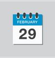 Calendar day 29 february leap or intercalary year