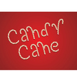 Candy Cane Words3 vector image vector image