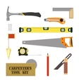 Carpenters Tool Kit vector image vector image
