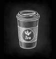 chalk sketch tea cup vector image
