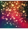 Christmas abstract background with bokeh light vector image vector image