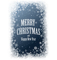 christmas card with frame snowflakes vector image vector image