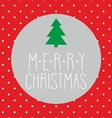 Christmas card with tree polka dots and wishes vector image vector image