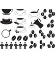Coffee cups and coffee beans vector image