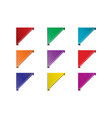 corner ribbon set vector image vector image