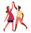 couple dancing romantic date dance isolated vector image