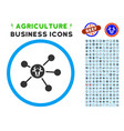cow links rounded icon with set vector image