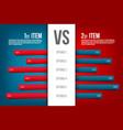 creative of service comparison vector image vector image