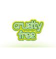 cruelty free word text logo icon typography design vector image