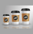 cup coffee drink hot milk vector image
