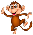 Cute monkey dancing vector | Price: 1 Credit (USD $1)