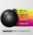 danger infographics vector image vector image