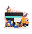 delivery services concept for web banner vector image