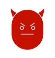 devil smile glyph color icon vector image