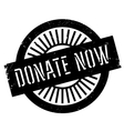 Donate now stamp vector image vector image