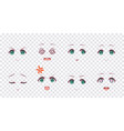 emotions green eyes of anime manga girls vector image vector image