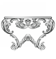 Exquisite Rich Rococo Table vector image vector image