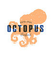fish silhouettede sign octopus emblem vector image