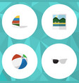 flat icon summer set of surfing reminders sphere vector image vector image