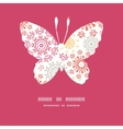 folk floral circles abstract butterfly silhouette vector image