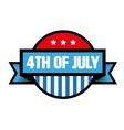 fourth july vintage stamp vector image vector image