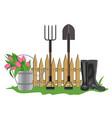 garden composition vector image vector image