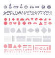 geometric memphis elements set group of vector image vector image