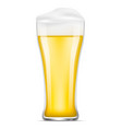 glass of beer icon realistic style vector image
