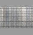 gray metal texture background with geometric tile vector image vector image